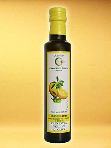 2x 0,25L bestes, kaltgepresstes Zitronen Olivenöl Extra vergine aus Bronte, Sizilien
