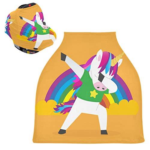 Sinestour Fundas para asiento de coche de bebé con diseño de unicornio, unisex, para silla alta, carrito de la compra, para niños y niñas