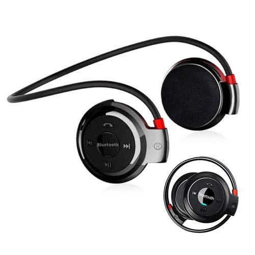 LawUza Sport Kopfhörer Bluetooth Kopfhörer Headsets für Handys Funk Kopfhörer mit FM Radio Schwarz