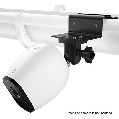 OWSOO Kamerahalterung Dachrinnenhalterung Verstellbare, 1 Pack, für Arlo HD, Arlo Pro, Arlo Pro2, Arlo Go, Arlo Ultra, WYZE-Nockenwanne, Ring-Stick-Up-Nockenbatterie, Außenbereich, Schwarz