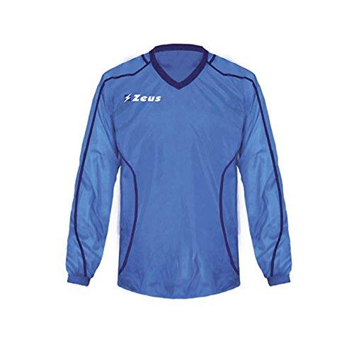 Zeus K-Way Eko Fauno Impermeable Chaqueta Unisex Chaqueta de lluvia Chaqueta de viento Fútbol Sport Rain Colour Azul Royal (M)