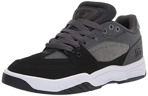 DC Men's MASWELL SE Skate Shoe, Grey/Black, 10 Medium US