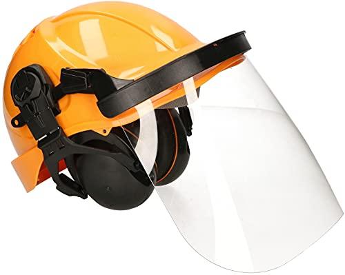KOTARBAU® Schutzhelm mit Gehörschutz und Visier Kompletter Satz