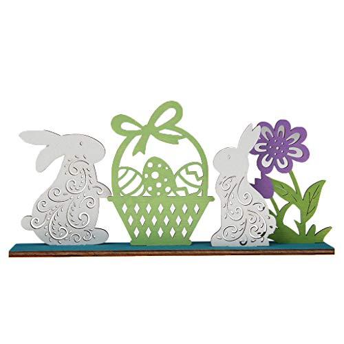 Decoración de Pascua Adorno de Conejo de Conejito de Madera hogar DIY decoración de Fiesta de cumpleaños de Boda