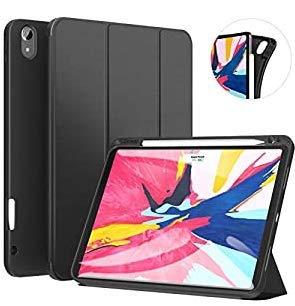 Ztotop Funda para iPad Pro 11 Pulgadas 2018, Ultra Delgada Smart Cover Carcasa con Soporte Incorporado de Pencil- Ligero, Función de Auto-Sueño/Estela, Soporta Cargar iPad Pencil - Negro