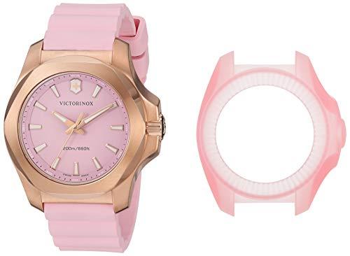 Victorinox Mujer I.N.O.X. V - Reloj de Acero Inoxidable/Caucho de Cuarzo analógico de fabricación Suiza 241807