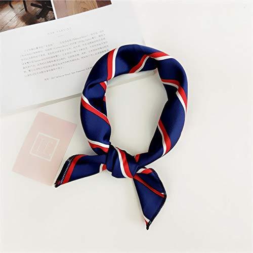 YANGYUE Pañuelo para el Pelo Corbata Estampado Animal Lujo Satén Pequeño/Cuadrado/Seda/Cuello/Anillo/Bufanda Invierno Pañuelo para laCabezapara Mujer Pañuelo Moda 2020