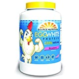 Egg White Protein Powder by Source Nutrition - 25 Grams Protein, Build Lean Muscle, Dairy Free - Strawberry Flavor (2 lb)