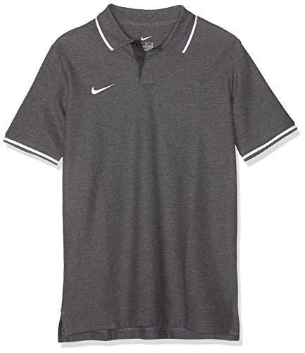 Nike Kinder Y TM CLUB19 SS Polo Shirt, Grau (Charcoal Heathr/White/071), Gr. L