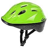 TurboSke Kid's Helmet, Children's Bike Helmet for Ages 3-5 (Glossy Lime Green, S)