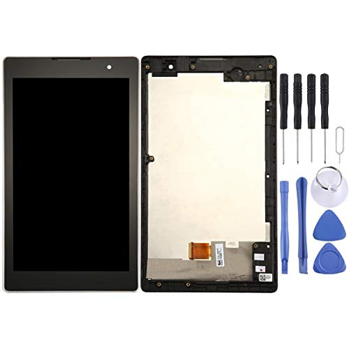 Mingxian Pantalla LCD y digitalizador Asamblea con Marco Completo for ASUS ZenPad C 7.0 / Z170C (Negro) (Color : Black)