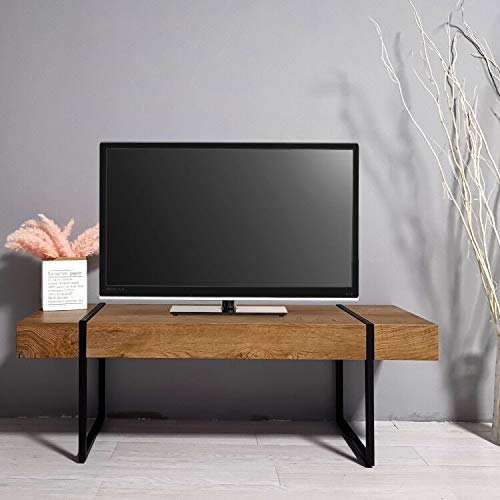 Ivinta Mid Century Modern TV Stand, TV Console, Modern Industrial Retro Entertainment Stand for Flat Screen TV for Living Room Entertainment Room Office