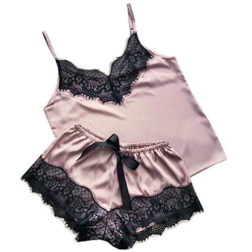 Allegorly Damen Mode Sexy Spitze Nachtwäsche Dessous Versuchung Babydoll Unterwäsche Nachthemd Rassig Frau Dessous - Satin Silk Pyjamas Bow Nachthemd Dessous