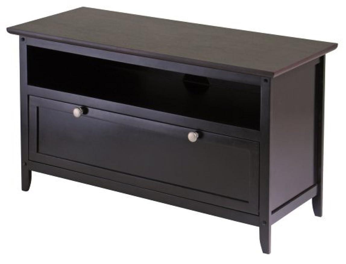 軽減解体するきらめきWinsome Wood Zuri 36-Inch TV Stand [並行輸入品]