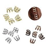 Ximimark 1 Set(15 Pcs) Dreadlock Beads Dread Hair Braid Cuff Clip Adjustable Hair Rings Set,Gold Silver Bronze