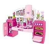 Letaowl Juguete de Cocina Juguetes de Cocina Conjunto Música Prensar Accesorios Cocina Juguetes Conjunto Cocina Juego Juego Utensilios de Cocina Conjunto para niños (Color : Pink)