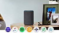 Echo Plus (2nd Gen) - Premium sound with built-in smart home hub - Charcoal by Amazon