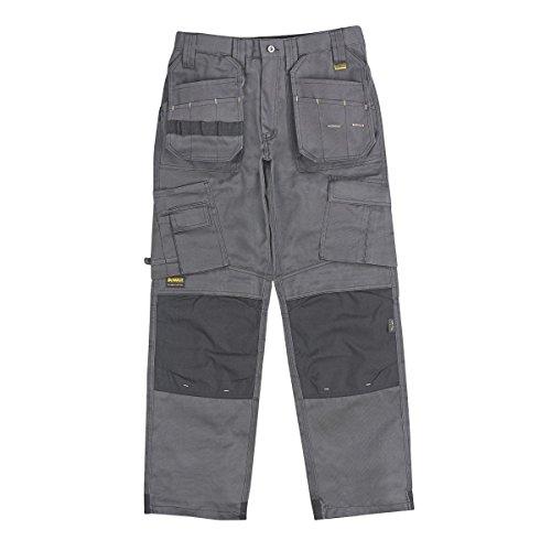 DeWalt Pro Tradesman - Pantalones de trabajo, color gris y negro, 38 pulgadas de ancho x 31 pulgadas de largo