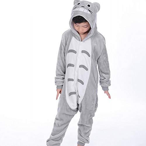 SHANGLY Onesies Pijama Animal Disfraces De Totoro para Niños Unisexo Escuela Familiar Fiesta...