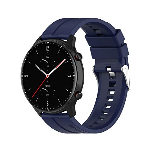 BoLuo 22mm Correa para Galaxy Watch 3 45mm,Correas De Reloj, Bandas Correa Repuesto,Silicona Reloj Recambio Brazalete Correa Repuesto para Samsung Galaxy Watch 46mm/Gear S3 Classic (Azul marino)
