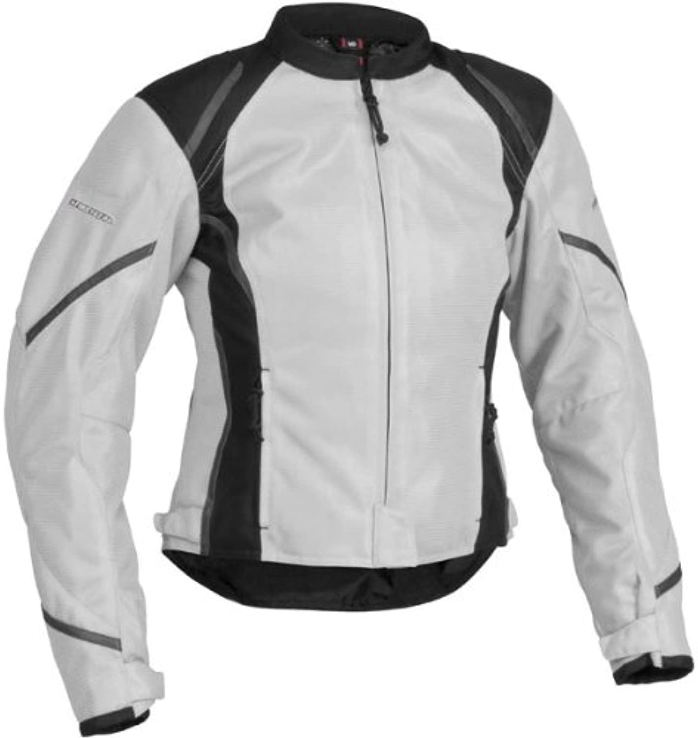 Firstgear Women's Mesh Textile Jacket  Silver Black Large  FTJ.1307.02.W003
