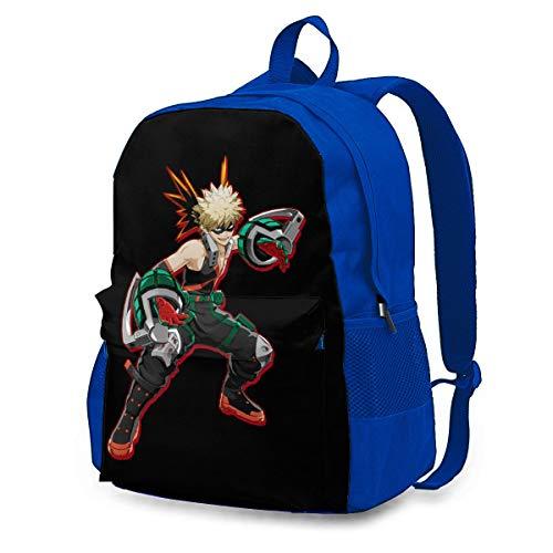 Tiancun Casual Laptop Bag for Men' Blue Backpack Katsuki bakugo