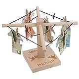 Geld-Wäschespinne zur Hochzeit: Eine kreative Möglichkeit Geld originell zu verpacken - individualisierbar mit persönlicher Gravur für...
