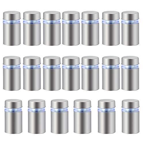 HSEAMALL 12 x 20 mm acero inoxidable vidrio Standoff Holder tornillo, publicidad clavos tornillos de hardware 20PCS