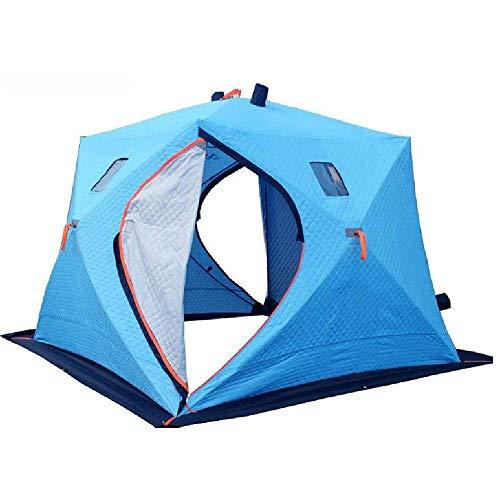 YBB-YB YankimX - Tienda de campaña para camping familiar de 3 a 4 personas, doble capa, impermeable, fácil de configurar, con cubierta antihielo, 240 x 240 x 190 cm