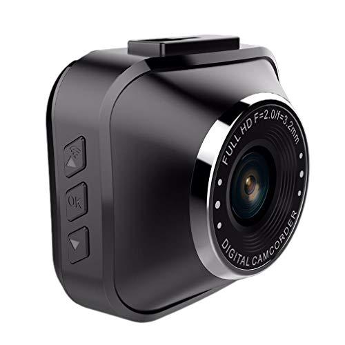 WEQQ Parquímetro de Monitor de Alta definición 1080p con Dos Lentes (Negro)