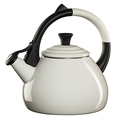 Le Creuset Enamel On Steel Oolong Tea Kettle, 1.6 qt., Whjte