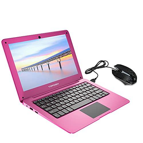 TOPOSH Ordenador portátil de 10,1 pulgadas, Windows 10, 4 GB de RAM + 64 GB SSD Intel Atom X5-Z8350, Quad-Core Graphics 1,44 GHz con teclado WiFi, Bluetooth y ratón
