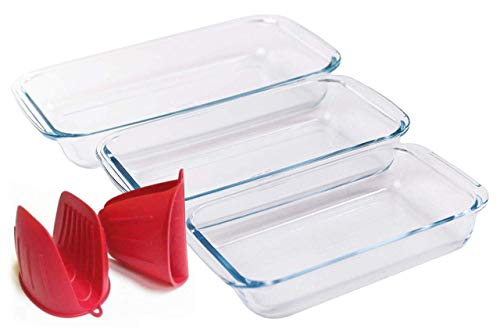 QI LIFE Baking Dish - Casserole Dish Set - Baking Dishes for Oven - Glass Bakeware