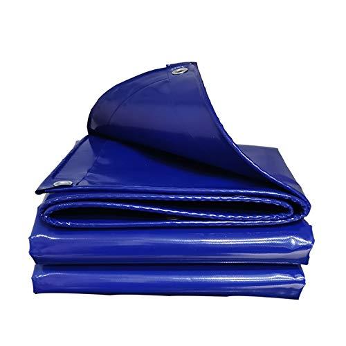 Blaue Abdeckplane, verdicktes PVC-Messertuch, wasserdichtes Regentuch, verschleißfeste Sonnenschutz- und Anti-Aging-Plane, UV-Schutz Schattierungsnetz (Größe: 2 x 1,5 m)