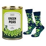 soxo calze divertenti colorate - piselli, 1 paia per uomo | socks confezione alle scatolette | 40-45 eu | calzini alti in cotone fantasia e divertenti, regalo per ragazzo
