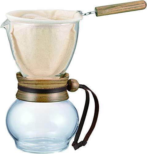 Hario Woodneck Drip Pot, 240ml, Acacia Wood