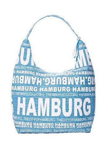 Robin Ruth Canvas Schultertasche/Shopper HAMBURG (Maße: LxHxT 38x30x17 cm) (Blau)
