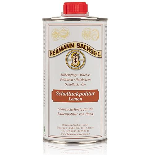 Goma laca de limpieza Lemon polaco francés cerosa automático 500 ml de la manufactura Hermann sajón desde 1901