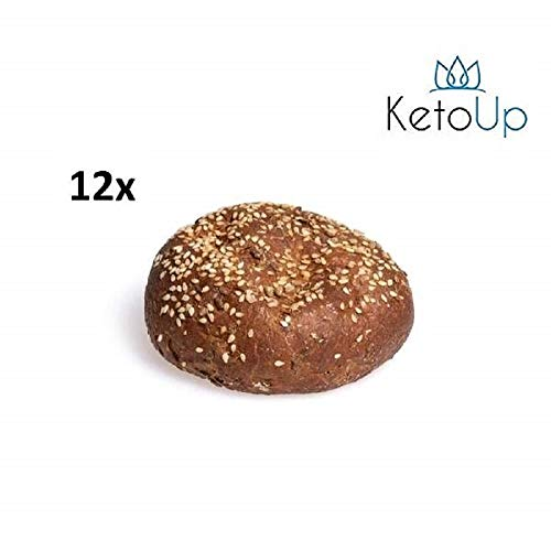 KetoUp: 12 frische Low Carb Meisterbrötchen | Ketogene und Low Carb Ernährung | Sportnahrung | Gesunde Ernährung | maximal 7% Kohlenhydrate - 12x80g