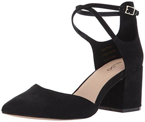 ALDO Women's Brookshear Block Heel Pump Dress Shoes, Black, 9