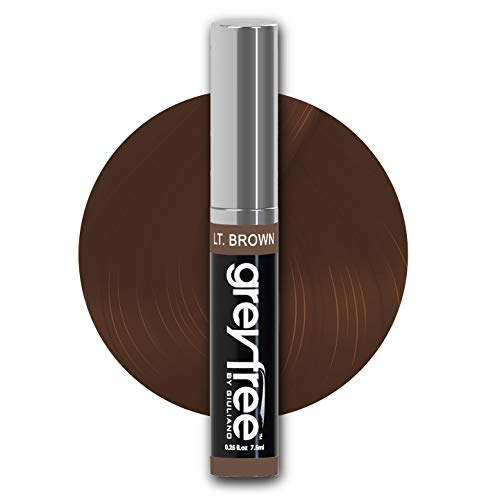 greyfree, Root Touch Up, LIGHT BROWN, Hair color, Brow Color to Edit or Hide Gray Hair in an Instant, WOW! Stylist agree 100% Grey Coverage, Perfect for beards, Brush on, not a Powder or Aerosol