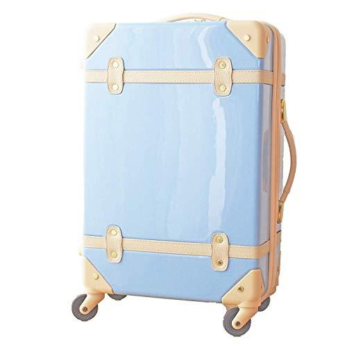 MOIERG(モアエルグ) キャリーバッグ YKK使用 軽量 かわいい スーツケース (S, ブルー)[71-80008-52]