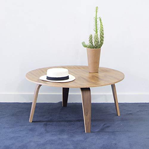 Mesa centro madera redonda de madera ideal para salón como mesa de centro o como mesa auxiliar