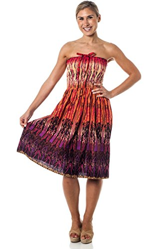 One-size-fits-most Tube Dress/Coverup - Tribal Sparks Blue