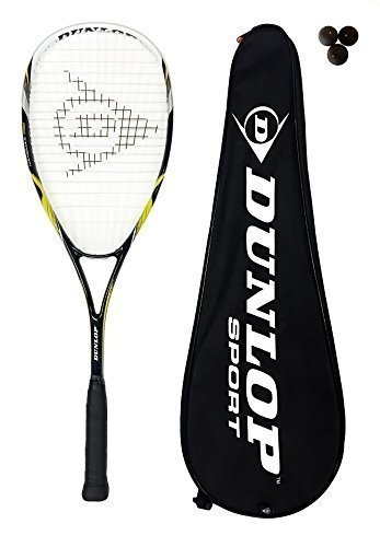 Dunlop Biotec Max Raquette de squash en titane + 3...