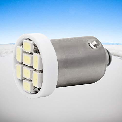 GSDGBDFE T4W BA9S 8 SMD 1206 LED Luz Interior 3020 8SMD Wedge Auto Lectura Automático Lámparas de cúpula Marcador de Coche Luz 8led DC 12V (Emitting Color : White)