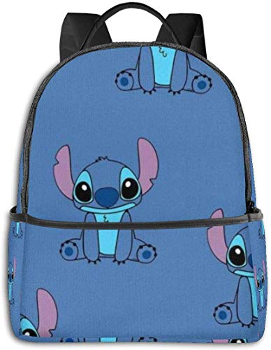 Lilo Stitch Student Bag Unisex Cartoon Printed School College Backpack 14.5 X 12x5 in