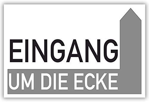 SCHILDER HIMMEL anpassbares Wegweiser Restaurant Schild 29x21cm Kunststoff mit Schrauben, Eingang rechts Ecke Nr 907 eigener Text/Bild verschiedene Größen/Materialien