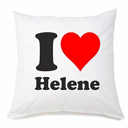 Funda de almohada I Love Helene en 40 cm x 40 cm fabricada en microfibra con cremallera para cualquier amante/fan que esté lejos