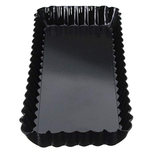 CPH20 Baking Mold Fluted Pie Tart Pan Removable Bottom Nonstick Quiche Tool Rectangle Bakeware Dishes Cake Pans